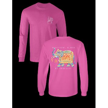 Sassy Frass Gypsy Elephant Be Bold Be Yourself Long Sleeves Girlie Bright T Shirt