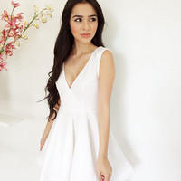 Swing By The Ocean Dress- White {Boutique Collection}