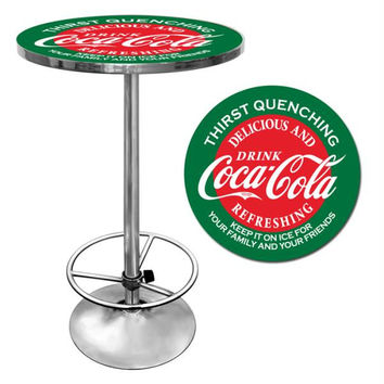 Red & Green Coca Cola Pub Table