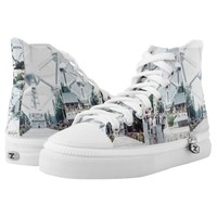 Brussels Atomium Photo Collage Printed Shoes