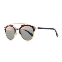 So Real Brow Bar Sunglasses, Dark Blue - Dior