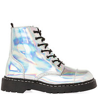 The Anarchic Combat Boot in Iridescent