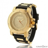 Men's Gold Face CZ Hip Hop Watch