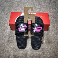 New Nike Benassi Jdi WMNS cheap Men's and women's nike Slippers Beach shoes-1686248855