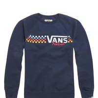 Vans Native Check Crew Fleece - Mens Hoodie - Blue -