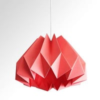 Pumpkin / Origami Paper Lamp Shade -Hot Pink