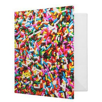 Sprinkles Candy Binder from Zazzle.com