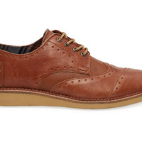 Brown Leather Men's Brogues