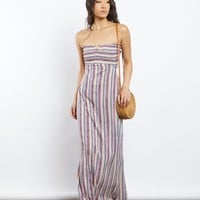 Summer's Eve Striped Maxi Dress