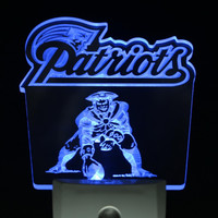New England Patriots Led Night Light Sign