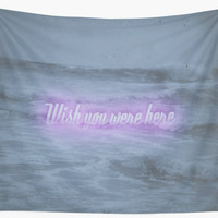 'Wish You Were Here' Wall Tapestry by DuckyB