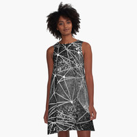 'space structure' A-Line Dress by Marianna Tankelevich