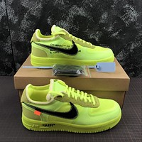 Morechoice Tuhz Off White X Air Force 1 Low Volt Sneakers Casual Skaet Shoes Ao4606-700