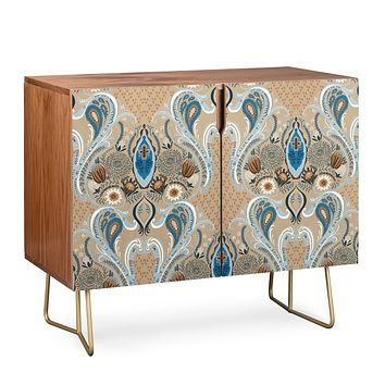Pimlada Phuapradit Protea flowers and damasks Credenza