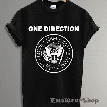Hot One Direction Ramones Shirt 1 Direction Shirt Black And White Colors DI-1