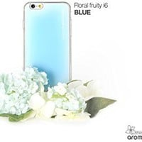 """Aroma Pooding Ipooding Reddot Design Awarded Patented Soft Grip 2 in 1 Case for Iphone 6 (4.7"""")- Mint Blue, Made in Korea"""