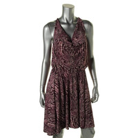 Dresses and Other Drugs Womens Daisy Drape Back Hi-Low Cocktail Dress