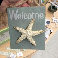 Welcome Starfish Plaque - Coastal Gifts & Decor