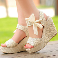 Sweet Candy Wedge Sandals