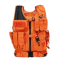 Bright Orange Hunting Vest Military Tactical  Body Armor Cosplay
