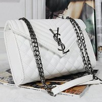 YSL Yves Saint Laurent Women Shopping Leather Chain Satchel Shoulder Bag Crossbody