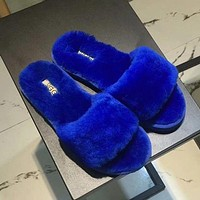 UGG new warm women's plush slippers shoes