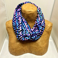 Colorful Knit Scarf - Intermingled - Patterned Scarf