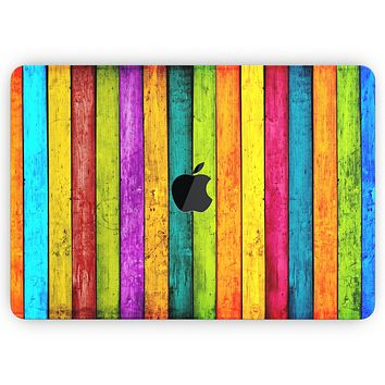 "Neon Wood Planks - Skin Decal Wrap Kit Compatible with the Apple MacBook Pro, Pro with Touch Bar or Air (11"", 12"", 13"", 15"" & 16"" - All Versions Available)"