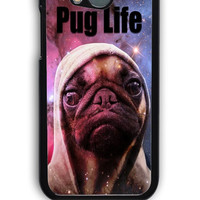 HTC One M8 Case - Hard (PC) Cover with Funny Pug Life On Galaxy Plastic Case Design