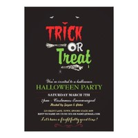 Halloween Party Trick Or Treat Party Invite