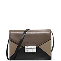 Michael Kors - Gia Colorblock Leather Clutch - Saks Fifth Avenue Mobile