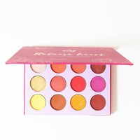 AURELIFE Maquiagem Glitter Eyeshadow Pallete Shimmer & Matte Eye shadow Red Orange Yarrow Pink Makeup Pallete Cosmetics