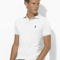 Polo Ralph Lauren Custom Fit- Solid White-small---Mesh Material