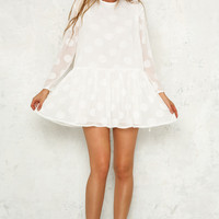 Mixed Messages Dress White