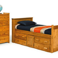Boone Bookcase Captain's  Bed