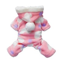 Pink Sweetie Dog Coat for Dog Clothes Dog Jumpsuit Soft Cozy Pet Clothes,S