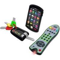 Kids, Baby Interactive Technology Imagination Play Remote, Keys, Cellphone Set