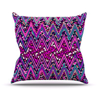 "Nika Martinez ""Pink Electric Chevron"" Throw Pillow"
