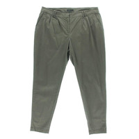 Eileen Fisher Womens Tencel Twill Tapered Leg Ankle Pants