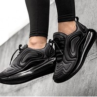 Nike Air Max 720 Popular Men Women Air Cushion Sport Running Shoes Sneakers Pure Black