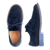 Kids' suede bucks with contrast sole