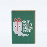 Ghost Christmas Card - Urban Outfitters