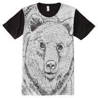 Black And White Bear T-shirt All-Over Print T-shirt
