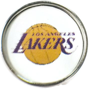 NBA Basketball Logo Los Angeles Lakers 18MM - 20MM Fashion Snap Jewelry Snap Charm