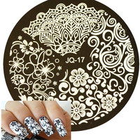 1pc Beauty Flower Styles Image Polish Printing Nail Stamping Plates Nail Art Templates Stencils Manicure Styling Tools