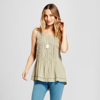 Women's Pleated Tie Front Top - Knox Rose™ Taupe