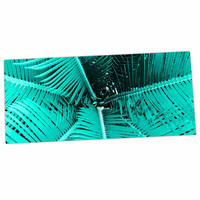 "Suzanne Carter ""Palm-Aqua"" Teal Black Desk Mat"