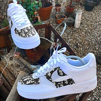 Nike Air Force 1 x Dior Print Contrast Shoes Women Men Trending Shoes White