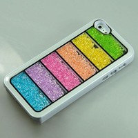 New Bling Rainbow Element Crystal Phone Case For iPhone 4/4s-white