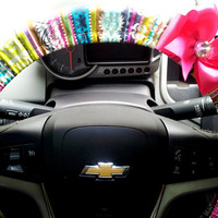 Mod Stripes Steering Wheel Cover with Your choice of Bow